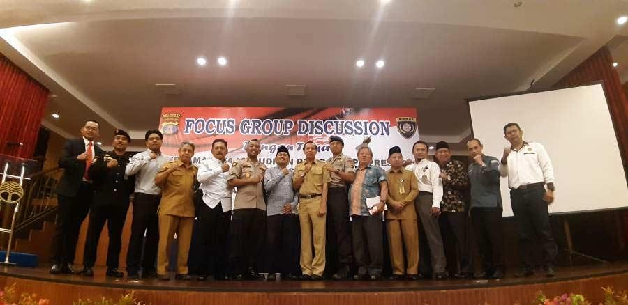 Wujudkan situasi Damai Jelang Pemilu, Polresta Samarinda Gelar FGD