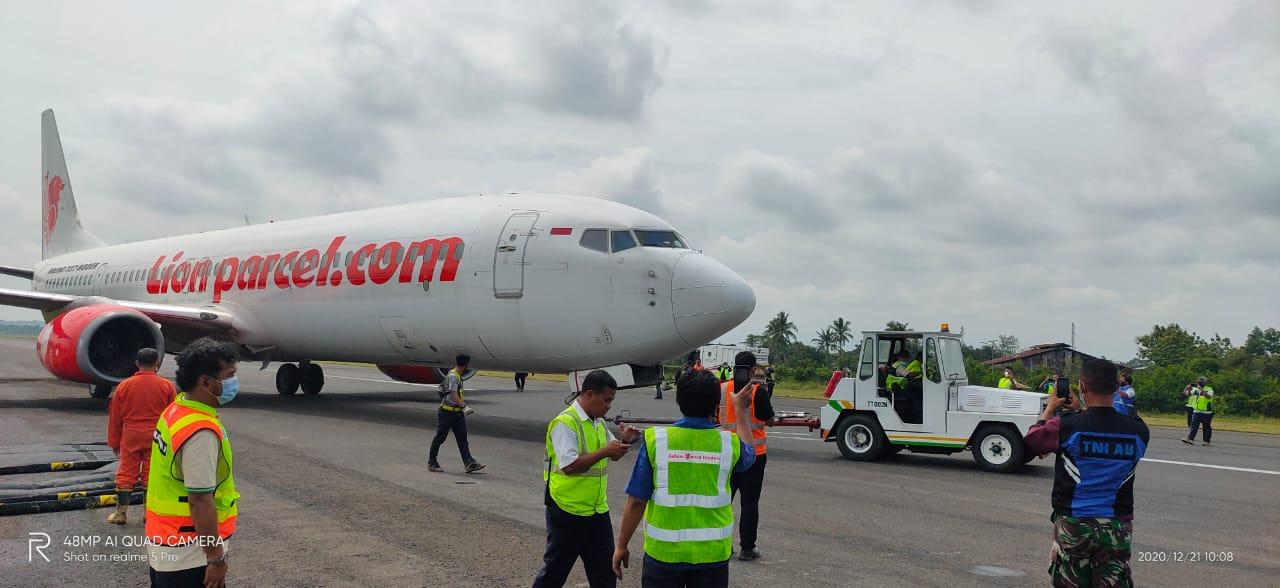 Lion Air JT-173 Tergelincir di Bandara Radin Inten II Lampung