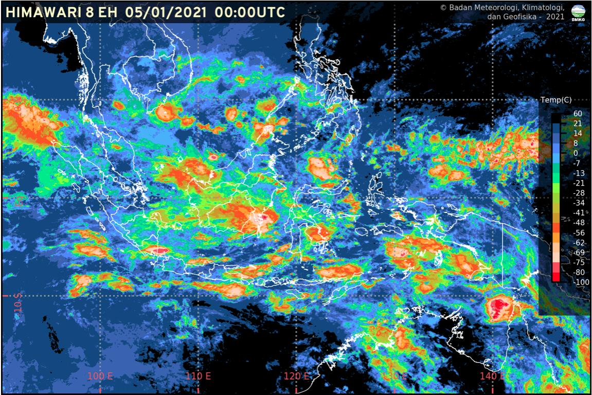 Kaltim Berpotensi Hujan lebat dan Angin Kencang
