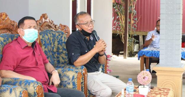 Wakil Ketua DPRD Kaltim M. Samsun siap di Vaksin.