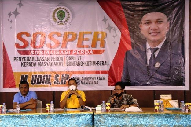 Ke Sangata, Anggota DPRD Kaltim, M Udin Sosialisasikan Perda Pajak