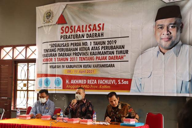 Akhmed Reza Fahlevi Gelar Sosper Pajak di Samboja Kukar