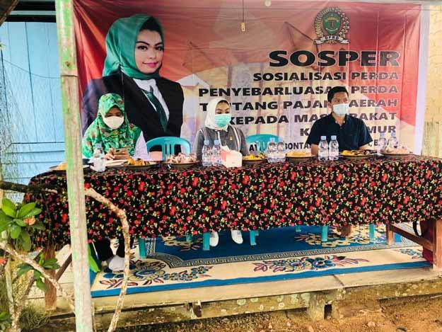 Siti Rizky Amalia Gelar Sosper Perda Pajak di Rantau Pulung