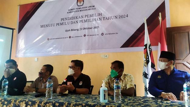 KPU Mahulu Gelar Pendidikan Pemilih Menuju Pemilu dan Pemilihan Tahun 2024