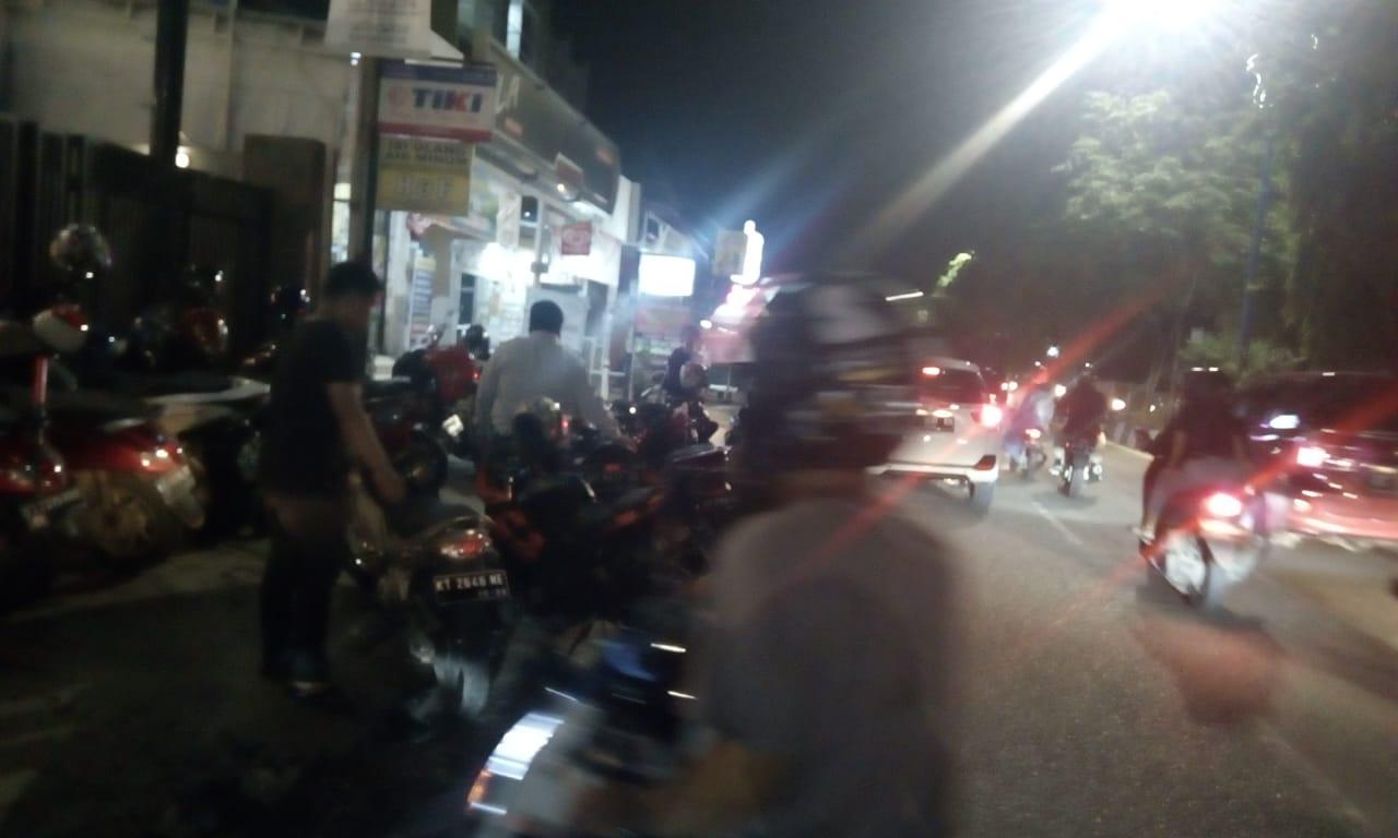 50 Kendaraan Diamankan Dishub Samarinda di depan Cofee Toffee