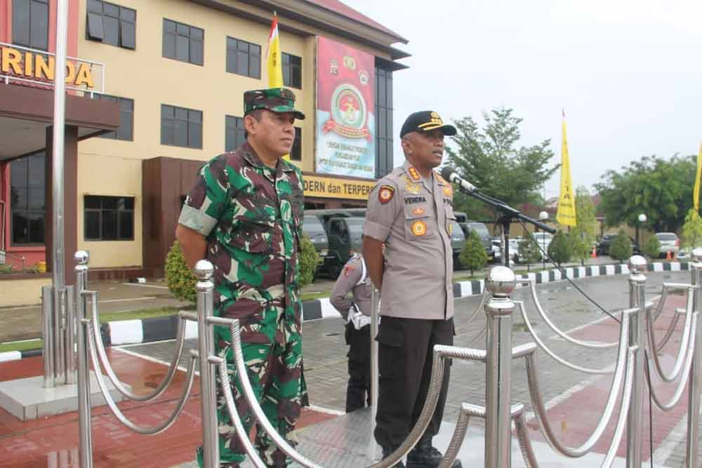 Jelang Pelantikan Polresta Samarinda gelar Apel Patroli Gabungan