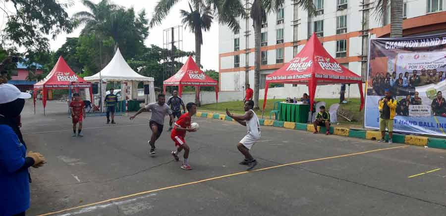 Final Street Hand Ball, Kaltim VS Papua