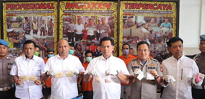 Sepekan, 3 Kg lebih Sabu & 1690 Pil Ekstasi Berhasil Diamankan Polresta Samarinda