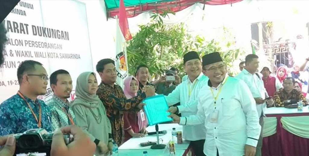 Datang mendaftar Di KPU, Zairin -Sarwono bawa Dukungan 69.712 KTP