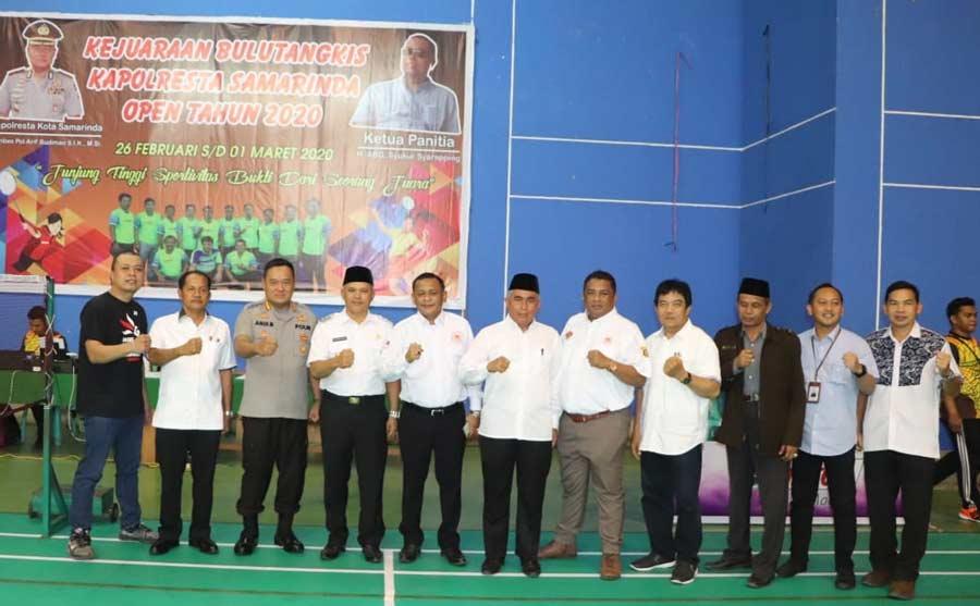 Hari ini, Kejuaraan Bulutangkis Kapolresta Samarinda Open 2020 Resmi Dimulai