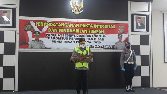 Polresta Samarinda Gelar Penandatanganan Pakta Integritas dan Pengambilan Sumpah