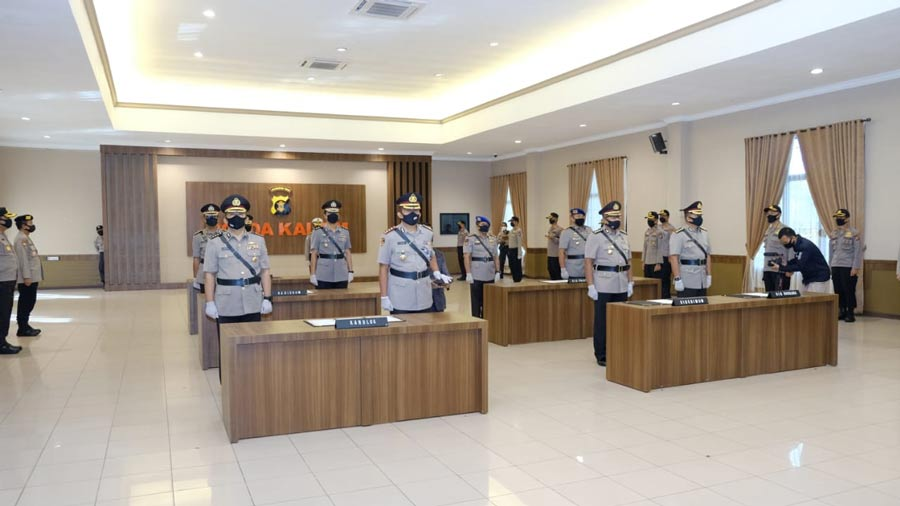 Kapolda Kaltim Irjen Pol Muktiono Lantik 7 Pejabat Utama