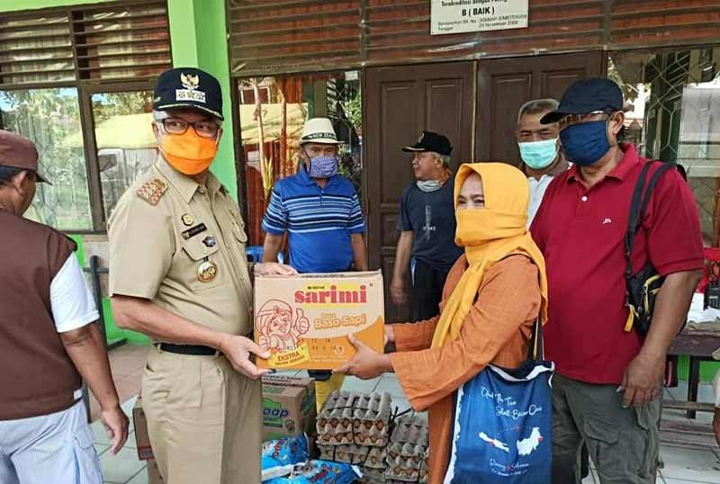Walikota Jaang Tinjau Korban Banjir Posko dan Dapur Umum