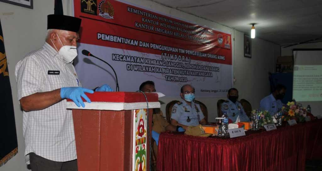 Hadiri Pembentukan Tim Pora, Wabub Kukar Chairl Anwar Minta Perusahaan Untuk Laporkan TKA nya