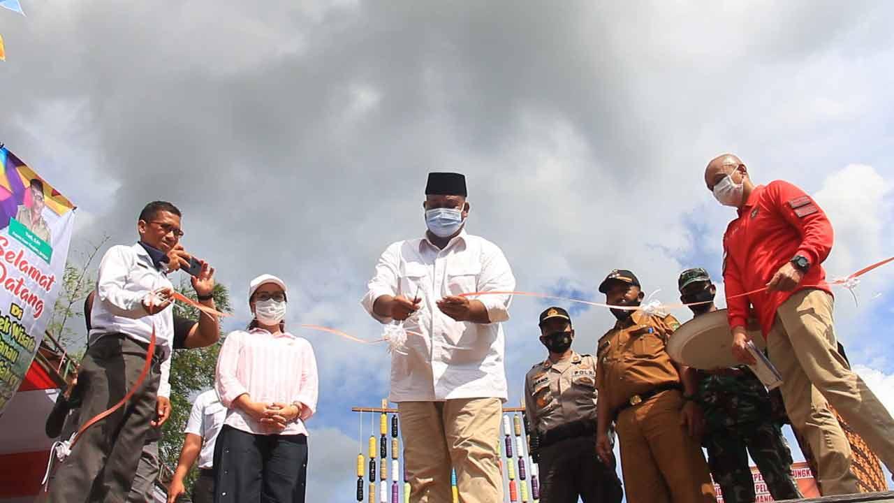 Bupati Kukar Resmikan Kawasan Wisata Pulau Sahrey Kembang Janggut