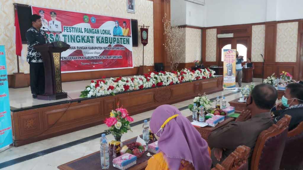 Mendorong B2SA Pemkab Kukar Bersama PKK Gelar festival Pangan Lokal