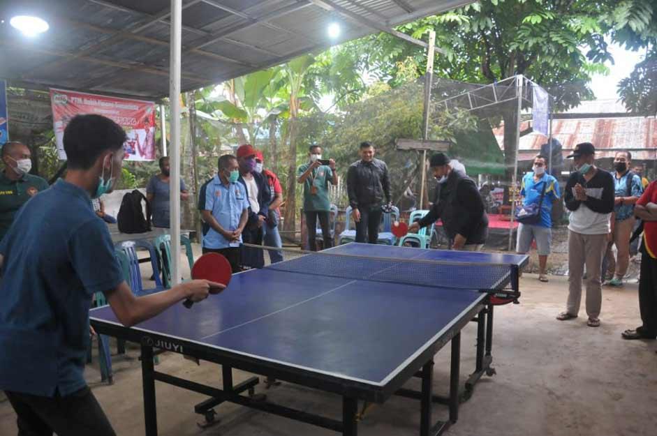 Bupati Kukar Edi Damansyah Buka Tunamen Tenis Meja Desa Loa Duri