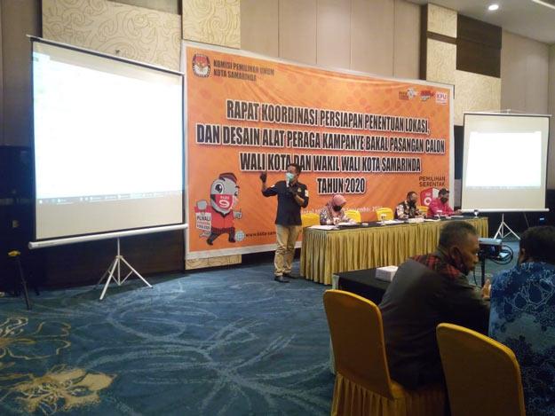 KPU Samarinda Tetapkan 3 Zona Titik Lokasi Pemasangan APK Paslon